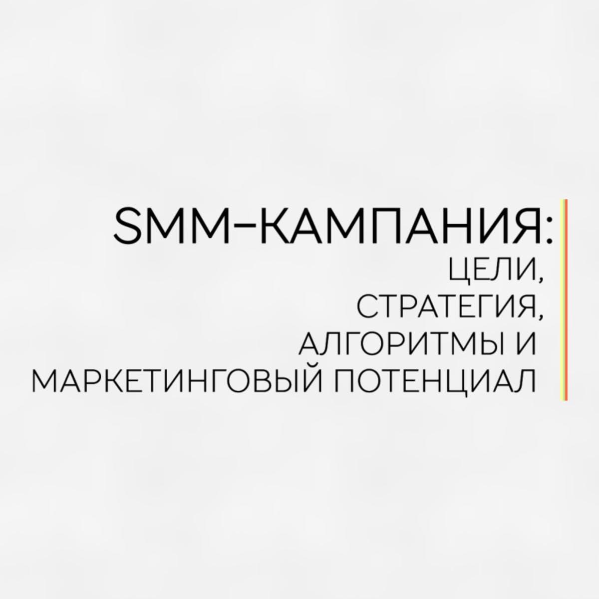 SMM-кампания: цели, стратегия, алгоритмы и маркетинговый потенциал