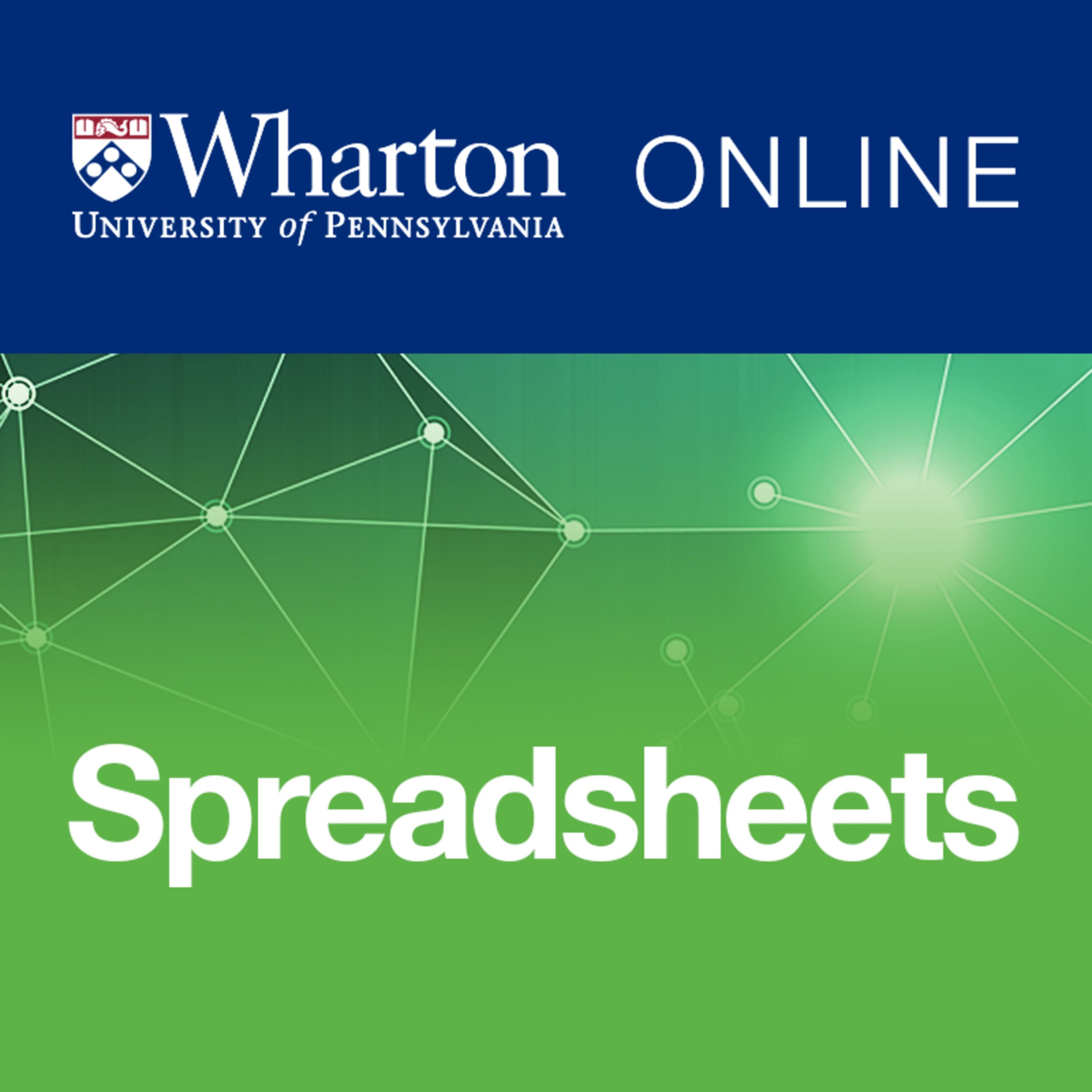 Introduction to Spreadsheets and Models | Coursera