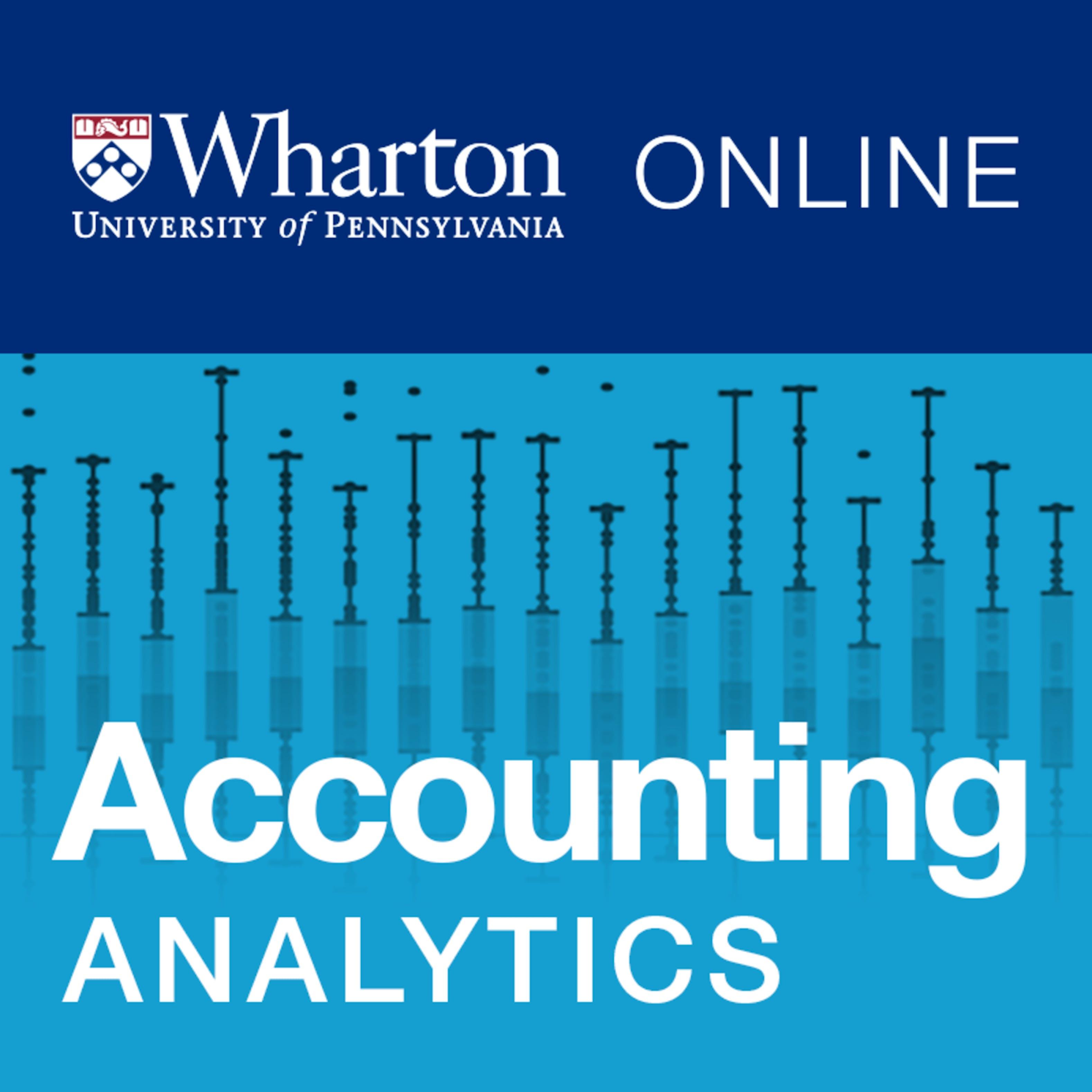 Accounting Analytics Coursera