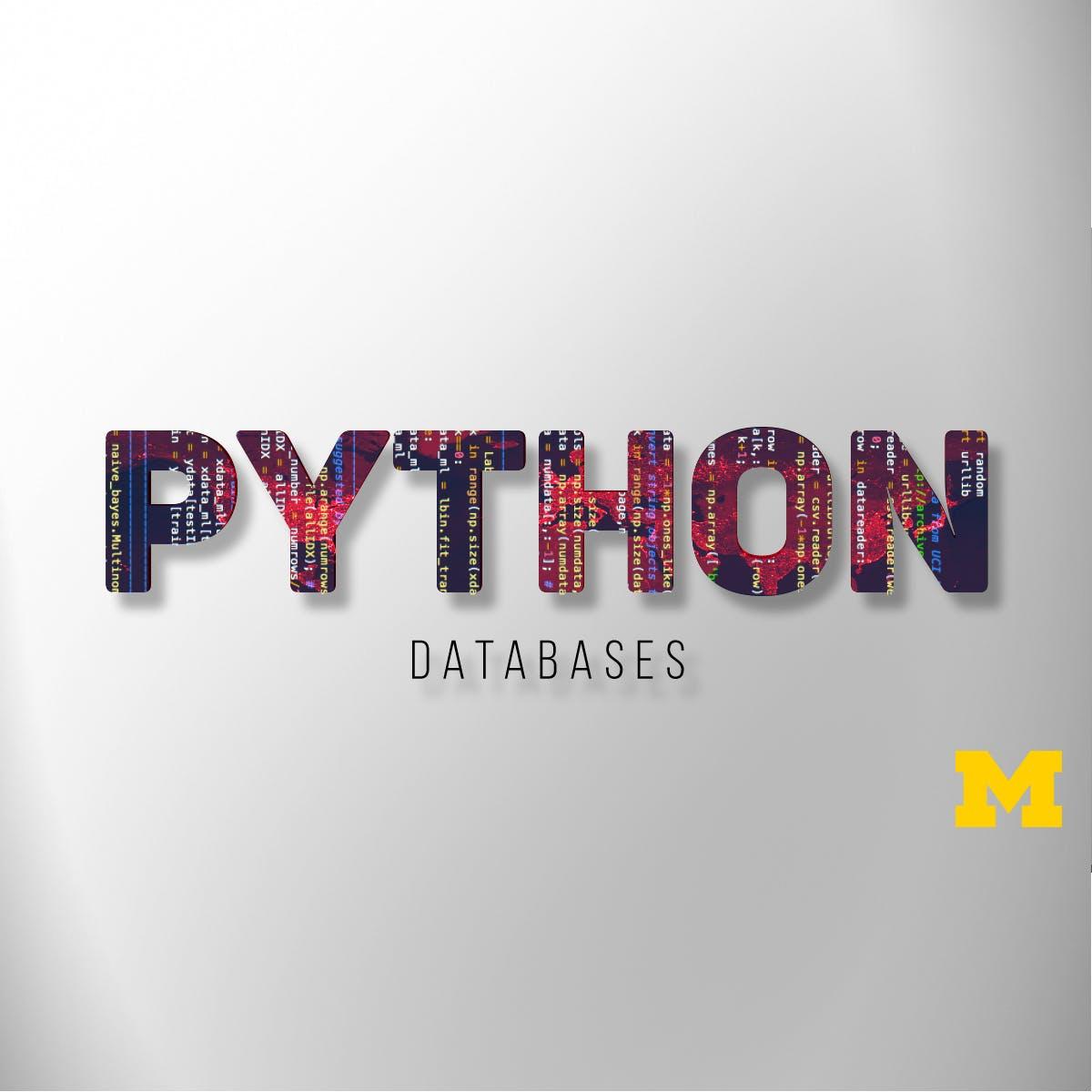 Usar Bases de Datos con Python