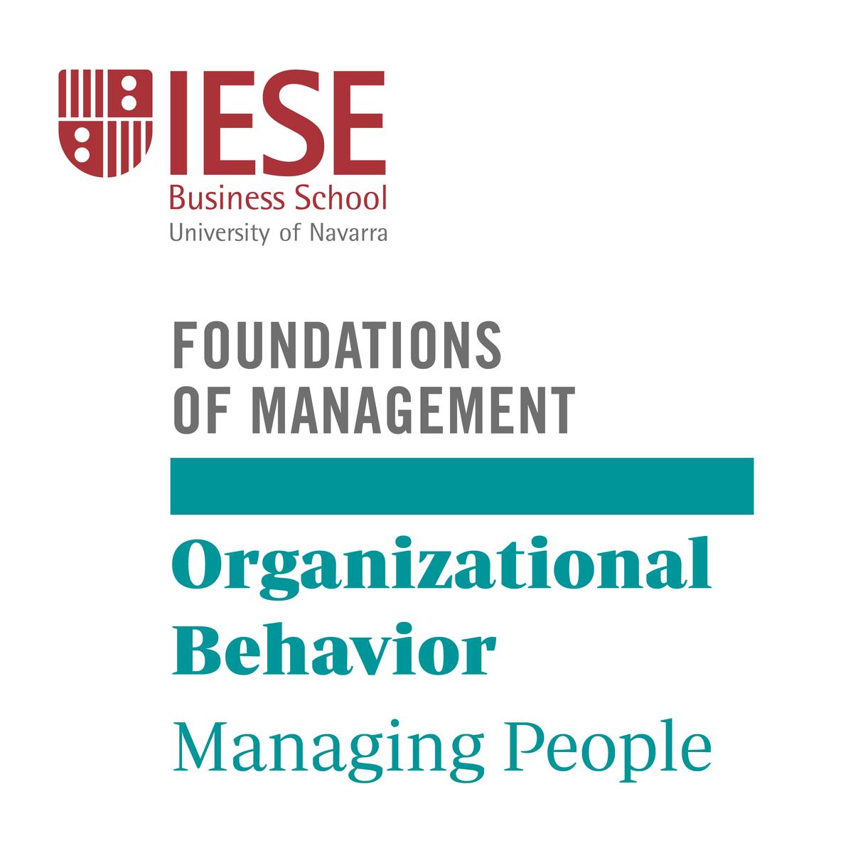 Organizational Behavior: Managing People