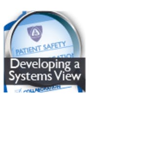 UCLA Online Courses Patient Safety and Quality Improvement: Developing a Systems View (Patient Safety I) for UCLA Students in Los Angeles, CA