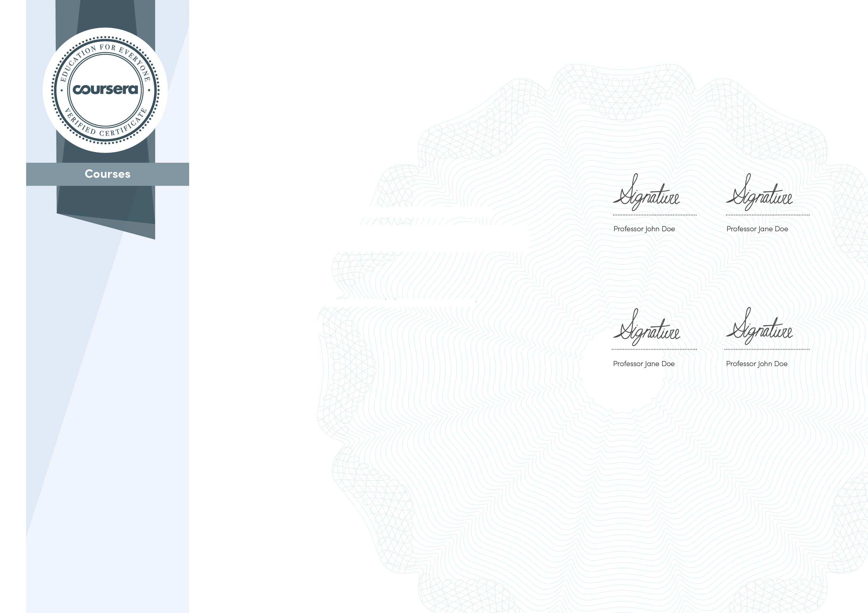 Specialization certificate