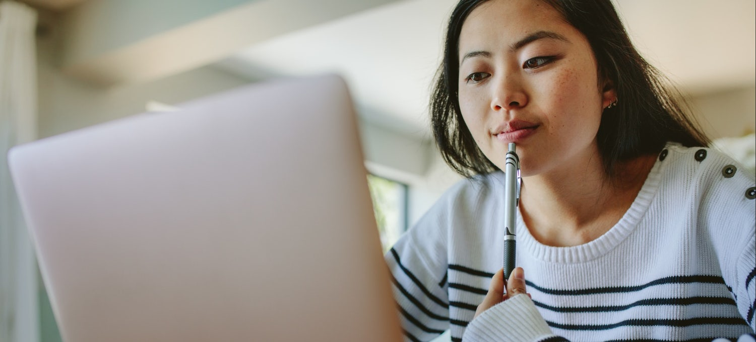 Woman decides between IT and computer science
