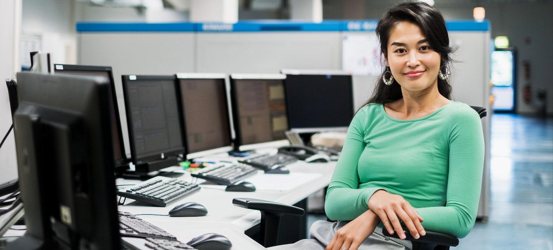 IT technician in her workplace