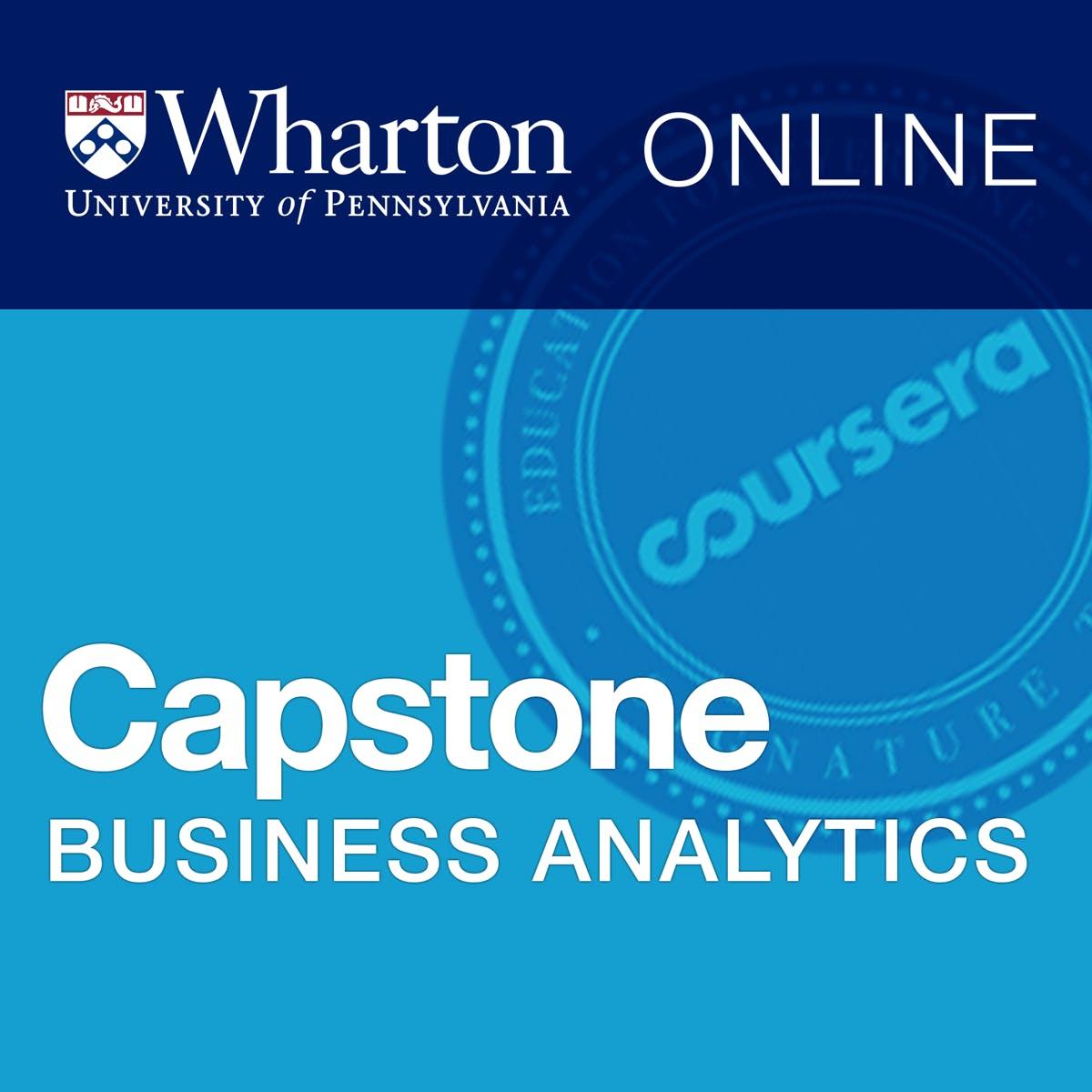 Business Analytics Capstone