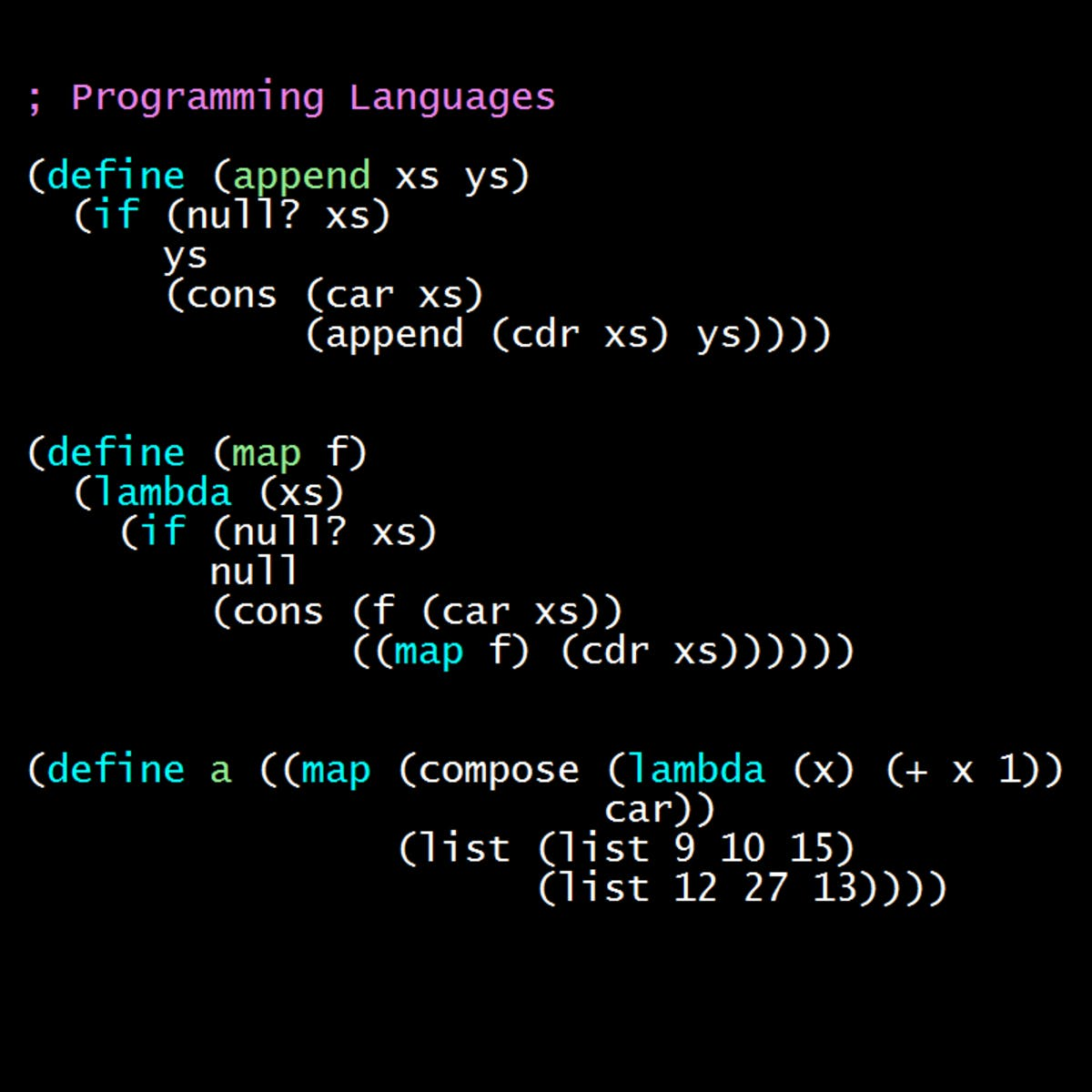 Programming Languages, Part B