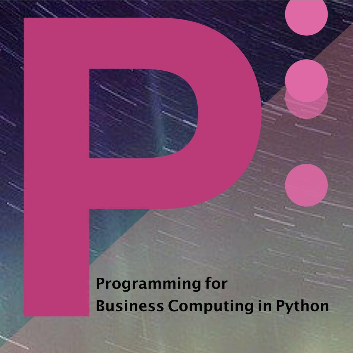 用 Python 做商管程式設計(二)(Programming for Business Computing in Python (2))