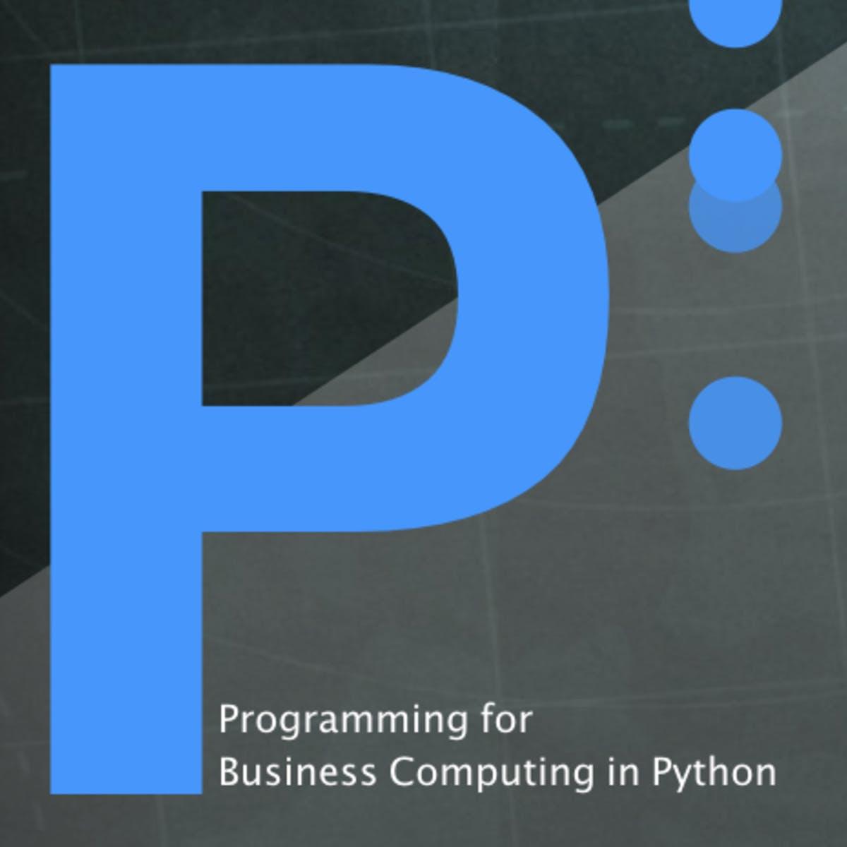 用 Python 做商管程式設計(一)(Programming for Business Computing in Python (1))