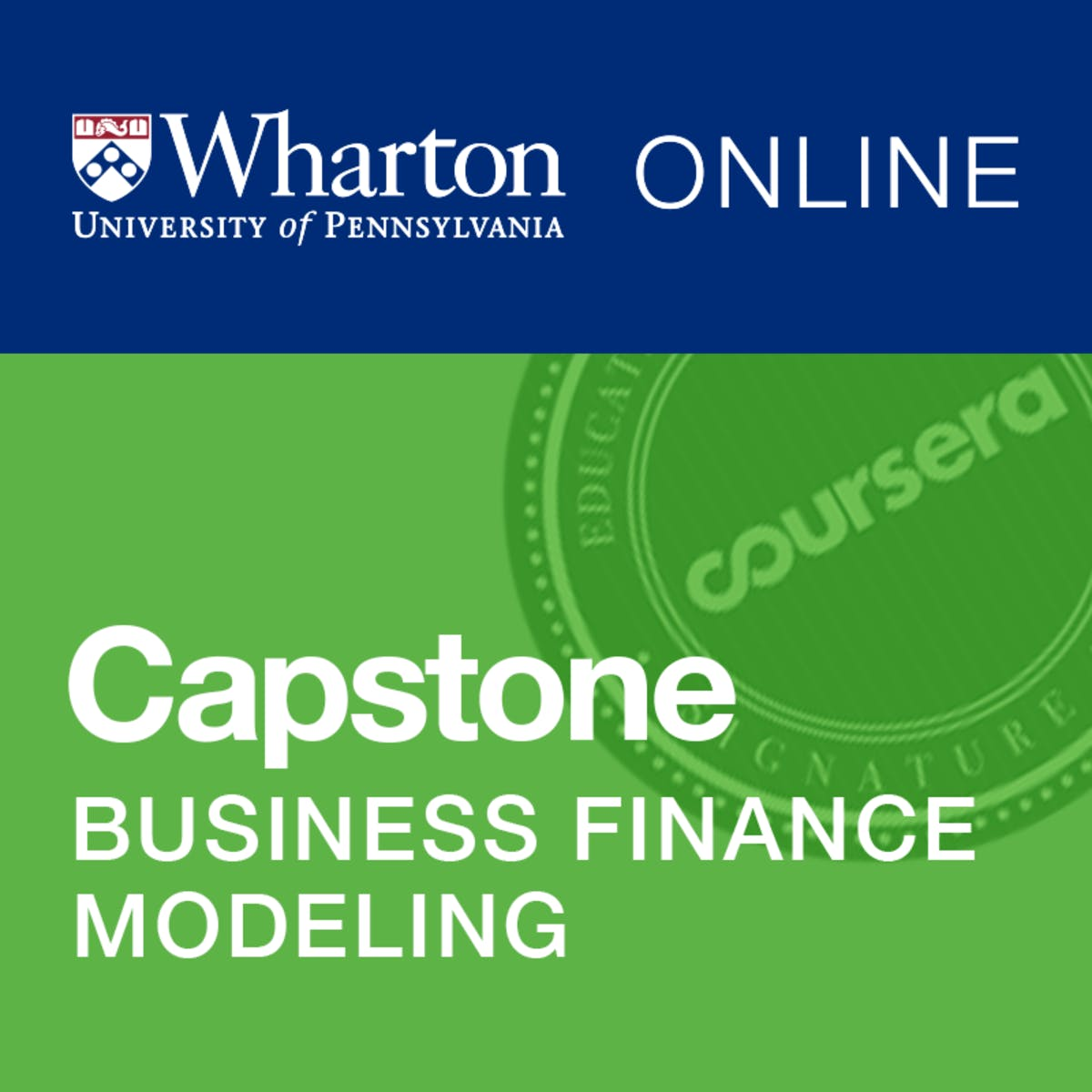 Wharton Business and Financial Modeling Capstone