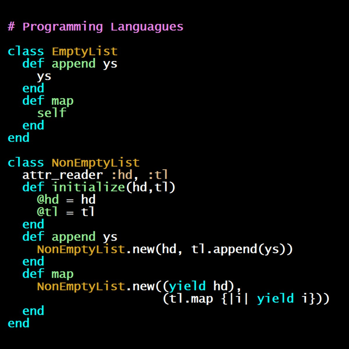 Programming Languages, Part C